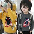 Best selling!!print Muppet cat boys fleece hoodie long sleeve kids Sweatshirts child outerwear free shipping