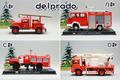 Delprado alloy car models fire truck ladder truck quality