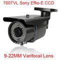 New 78 IR Surveillance Security Outdoor CCTV Camera 700TVL SONY EFFIO-E CCD 9-22mm Lens OSD Menu