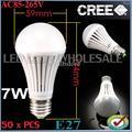 Wholesale -50pcs/lot The new price!!! 100pcs/lot 7W SMD 5050 AC85-265V E27 E26 High Power Ball Steep Light FREE SHIPPING