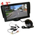 "Wireless Mini Car Reverse Reversing Camera 170 degree + 4.3"" LCD Monitor Car Rear View Kit Free Shipping"