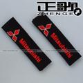 free shipping 1pair Seat belt shoulder Mitsubishi MITSUBISHI for car logo safety belt cover 1pair=2pca shoulder
