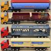 Alloy car models car model toys flatbed trailer toy big truck transport truck model