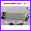 3pcs/lot Breadboard kit 3.3V/5V Breadboard power supply module + Breadboard 830 + 65pcs Flexible jumper wire Free Shipping
