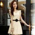 Free shipping summer fashion women's 2013 sweet lace ruffle short-sleeve dress