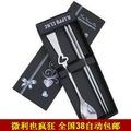 Free Shipping B1421 gift stainless steel chopsticks dinnerware set heart big round spoon chopsticks spoon black box 80g
