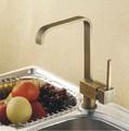 New Antique Brass Kitchen Faucet Sink Swivel Kitchen Mixer Tap Crane