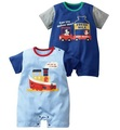 baby rompers boys short sleeve bodysuits one-piece girls cotton coverall T-shirts tees shirts babywear 16pcs/lot SH724
