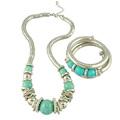 Vintage Style Turquoise Necklace Bracelet Set Turquoise Jewelry Sets