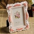 Free shipping Fashion photo frame photo frame pink rose resin photo frame decoration crafts gift gift