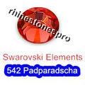 GENUINE Swarovski Elements ss8 Padparadscha ( 542 ) 144 pcs. Iron on 8ss Craft Hot-fix Flatback Crystal 2038 Hotfix rhinestones