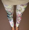 New Women's Lady Girl Stretch Sexy Pants Chinoiserie Landscape Multicolor Flower Print Leggings Hot Trendy