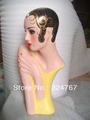Vintage Pink Velvet Mannequin Head Manequin Wig Display