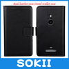 5pcs/lot High Quality Wallet leather case for Sony LT30 Xperia T, with stand,with credit,