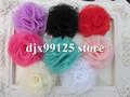 100pcs/lot 5.5cm mesh flowers Chiffon Shabby Flowers Silk Lace Hair flowers