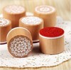 Free Shipping / New sweet lace series wood round stamp / gift stamp / 6 designs 42Pcs/Lot
