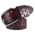 Cutout women's genuine leather strap Women casual pin buckle strap Women belt female