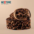 Free Shipping High Quality Elegant Leopard Women belt Lady leather elastic Belts