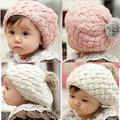 Rabbit fur ball child hat ear protector cap beret baby hat parent-child cap