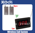 Hospital nurse call system wireless pager system of 1 Call pager K-1000 for nurse or doctor and 5 Call bell K-B for patient