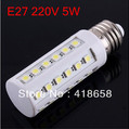 Ultra Bright Corn Bulb E27 5W 5050 SMD 36LED Light Home Bedroom Lamp 220V 360 degree High Power Cool| Warm White Free Shipping