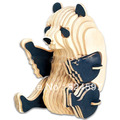 2015 New Promotion 5pcs/lot Children Educational Gift popular handmade Panda decoration 3D diy wooden puzzle toys WJ0024