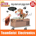 Automated dog steal coin piggy bank, Novelty saving money box, coin bank, money bank ATM Money box Free Shipping