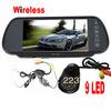 2.4G wireless kit Car Rear View Camera + 7 inch Wide Screen Car Mirror Monitor