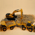 Huayi toy car engineering car alloy car model mining machine forkfuls truck mixer truck