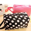 Free shipping 2012 polka dot big capacity multifunctional handbag storage bag cosmetic bag women's handbag