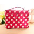 Free shipping Large capacity portable dot folding multifunctional women's handbag storage bag cosmetic bag