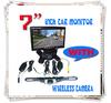 """7"""" TFT LCD Car Rearview Monitor + 2.4G Wireless Car backup Camera Night Vision"""