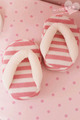 Pink stripe slippers slimming slippers toe shoes weight loss legs beauty care slippers stovepipe shoes
