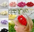 New Style Beautiful Feather Headband hairband Baby Girls flowers headbands,kids' hair accessories Baby Christmas gift