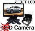 "7"" LCD Monitor+18 ir LED Night Vision CCD Reversing Camera Car Rear View Kit For Heavy Duty (12V"
