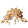 2015 Factory direct 10pcs wholesale Children Educational Gift popular handmade Stegosaurus toy 3D diy wooden puzzle toys WJ0044