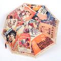 Romantic annecity san xiang brand Franch old films automatic umbrella sun protection umbrella, 1pc