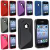HOT! Anti-skid design 4G soft case,S Line skin TPU Case for iPhone4 4S, 20pieces/1lot