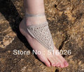 Crochet Barefoot sandles, beach Wedding party, handmade foot jewelry, yoga, belly, steampunk, summer, beach pool