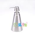 Sanitary ware hydraulic bottle lotion bottle stainless steel soap dispenser taper cone plain bottle