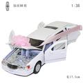 Cars lincoln lengthen car white limousines gift box set alloy WARRIOR toys gift