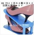 Free shipping plastic shoe rack novelty adjustable save space shoe storage rack case box dropship
