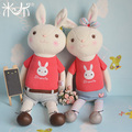 Metoo Bunny Soft Toys Cute Couple Dolls Rabbit Plush Toy Stuffed Animals Dolls for Girlfriend / Boyfriend Child Kids Doll Gifts