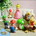 3 SetsLot 18 Super Mario bros mini figures Figurine Toy Doll