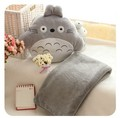 Free Shipping Totoro pillow three-use cushion sierran air conditioning blanket pillow plush toy for Children