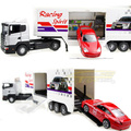 FreeShipping Large f1 transport truck f1 equation automobile race stacking container car toy alloy truck model /children toys