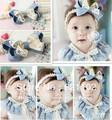 Min.order is $10 (mix order)Girls Flower Baby Headbands Girls Hair Band Children Hair Accessory Crochet Elastic Lace