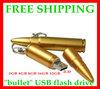free shipping  Metal bullet  usb flash drive  4GB 8GB 16GB 32GB 64GB   usb flash disk usb pen 2 yeara warranty