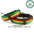 Reggae rasta leather bracelet hand ring