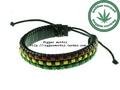Reggae ska rasta national trend leather bracelet hand ring
